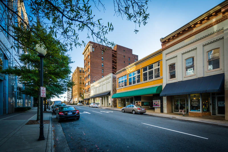 Liberty Street in downtown Winston-Salem, North Carolina. royalty free stock images
