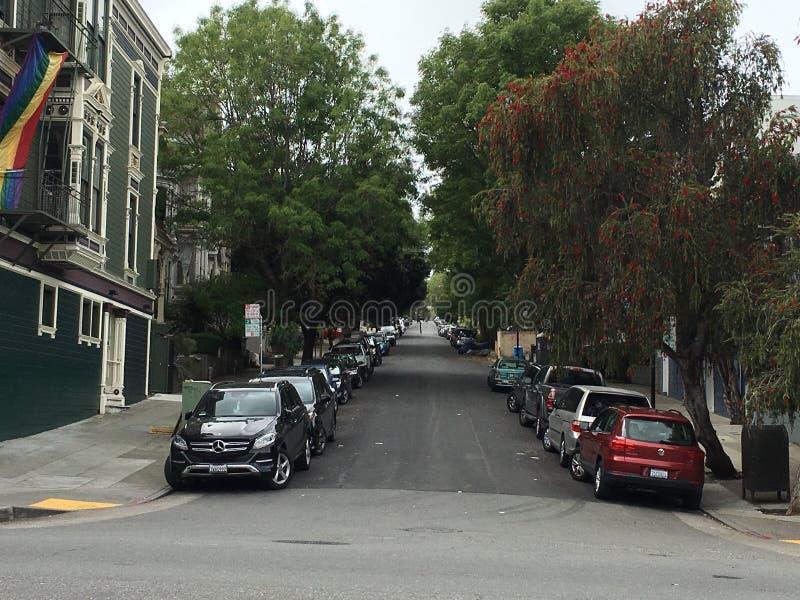 Liberty Street Historic District, San Francisco stock foto