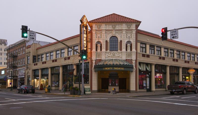 Liberty Theater in Astoria, Oregon royalty-vrije stock afbeelding