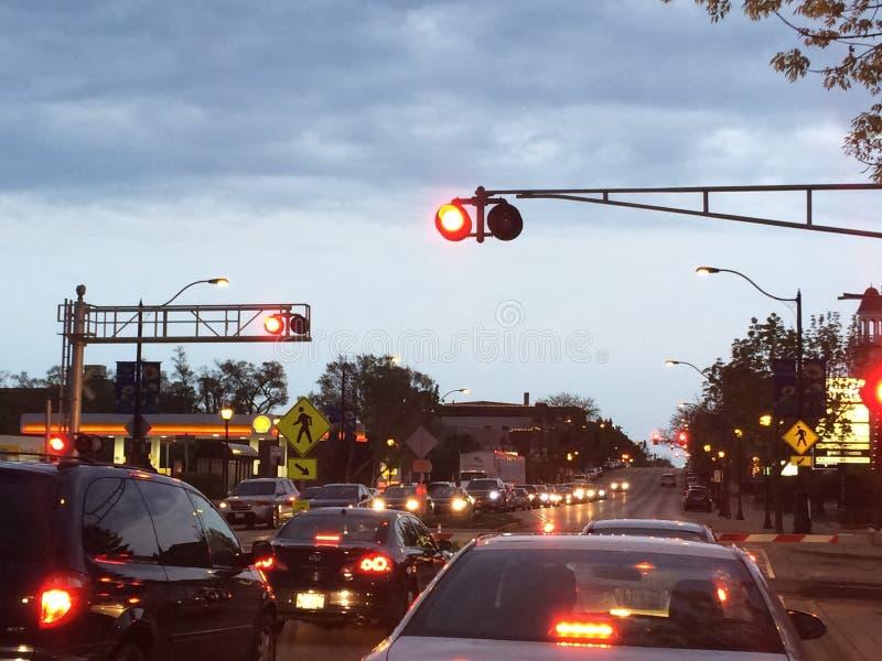 Libertyville街道 免版税库存图片