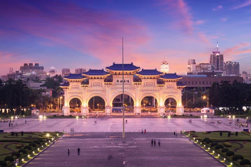 Libery Square at sunset. Taipei - Taiwan. stock image