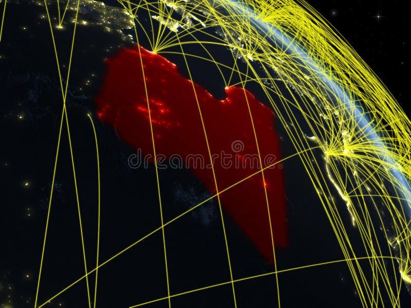 Libia del espacio con la red stock de ilustración