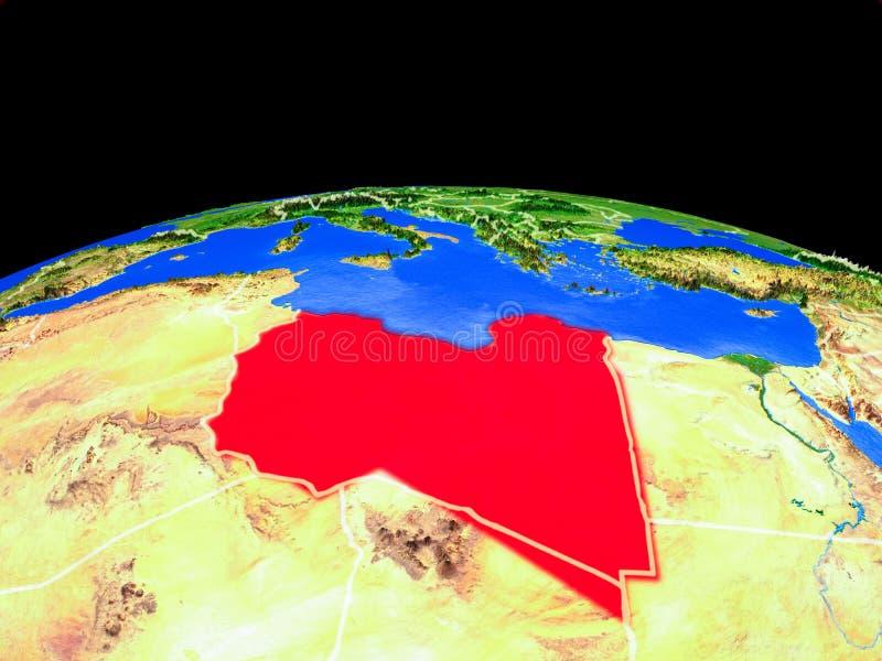 Libia del espacio en la tierra libre illustration