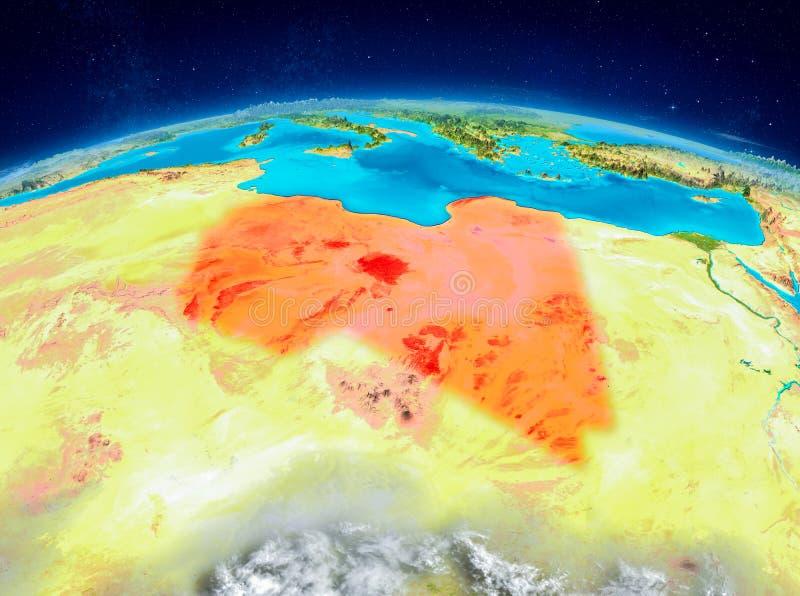 Libia en la tierra ilustración del vector