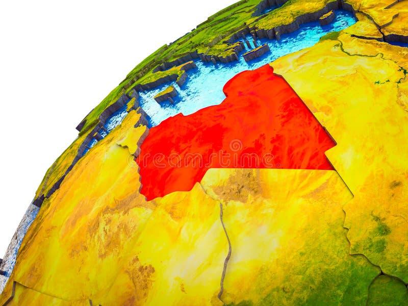 Libia en la tierra 3D libre illustration