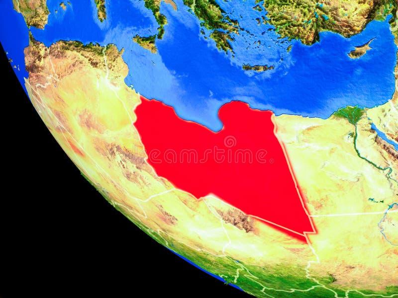 Libia en la tierra del espacio libre illustration