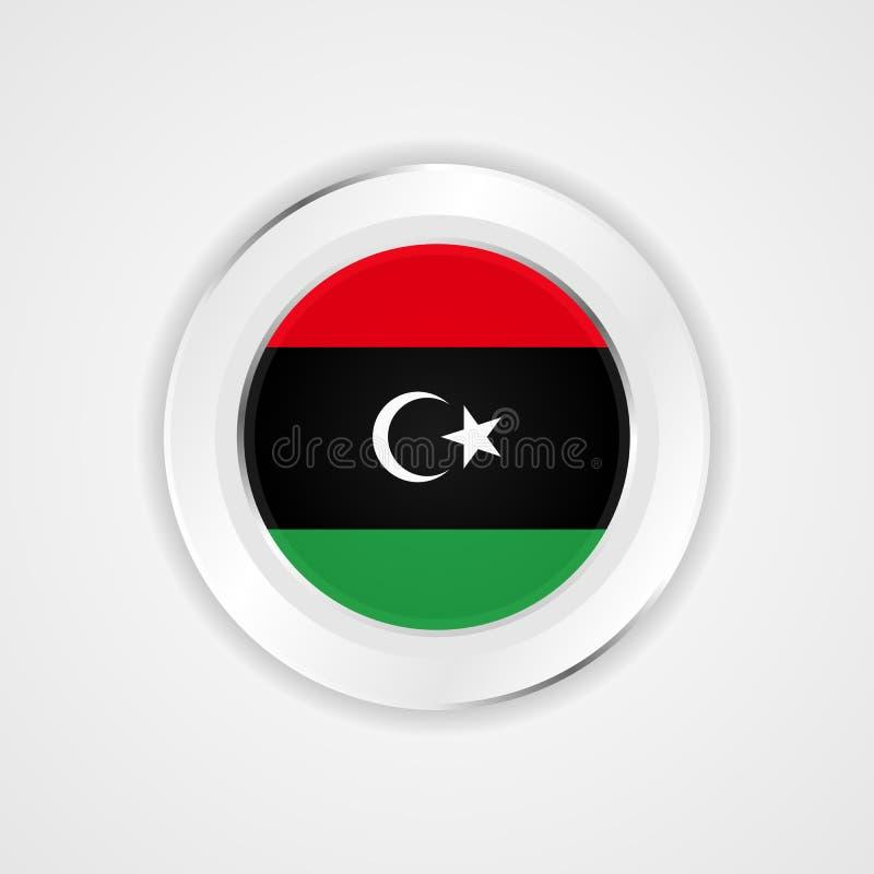 Libia flaga w glansowanej ikonie royalty ilustracja