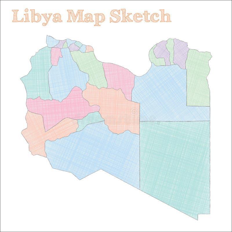 Libia mapa ilustracji