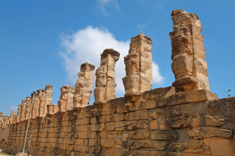 Libia. The Porch of the Erme in Cyrene, Libya royalty free stock images
