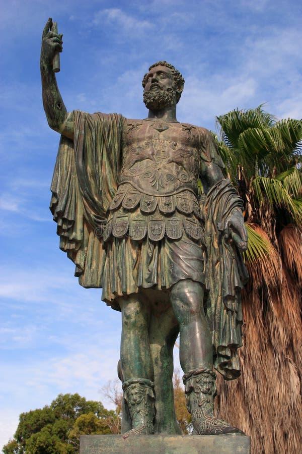 Libia, Trípoli, estatua de Septus Severius fotografía de archivo libre de regalías