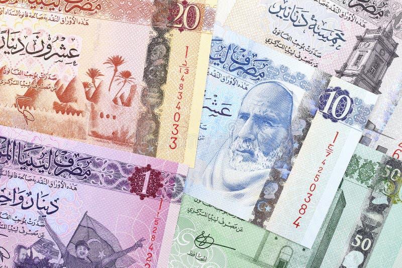 Libische Dinar, een achtergrond stock foto's