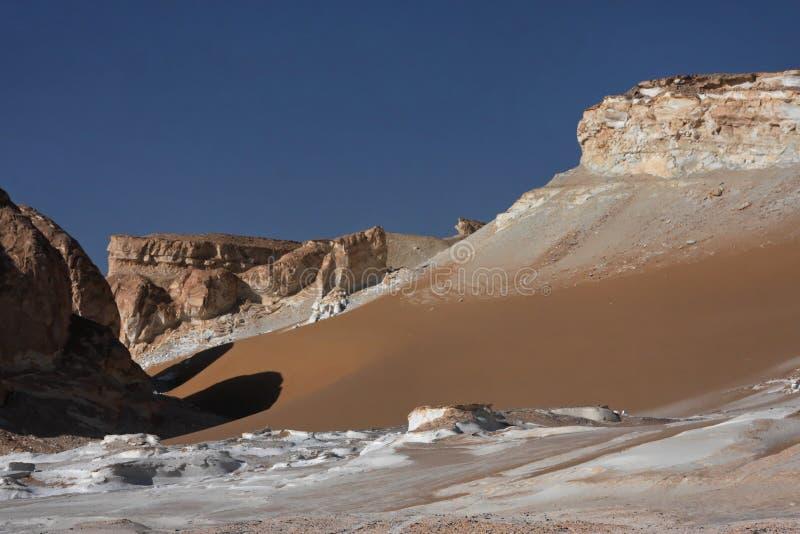 Libische woestijn in West-Egypte stock afbeelding