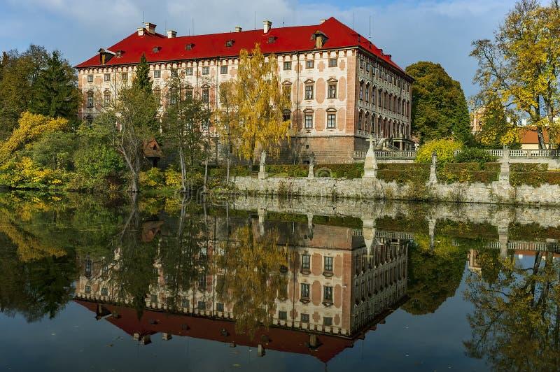 Libochovice城堡/捷克 免版税库存照片