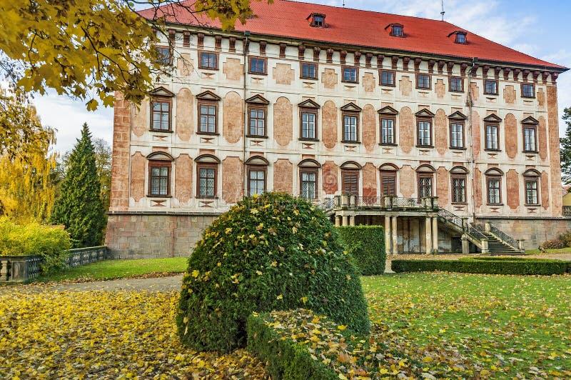 Libochovice城堡/捷克 免版税库存图片