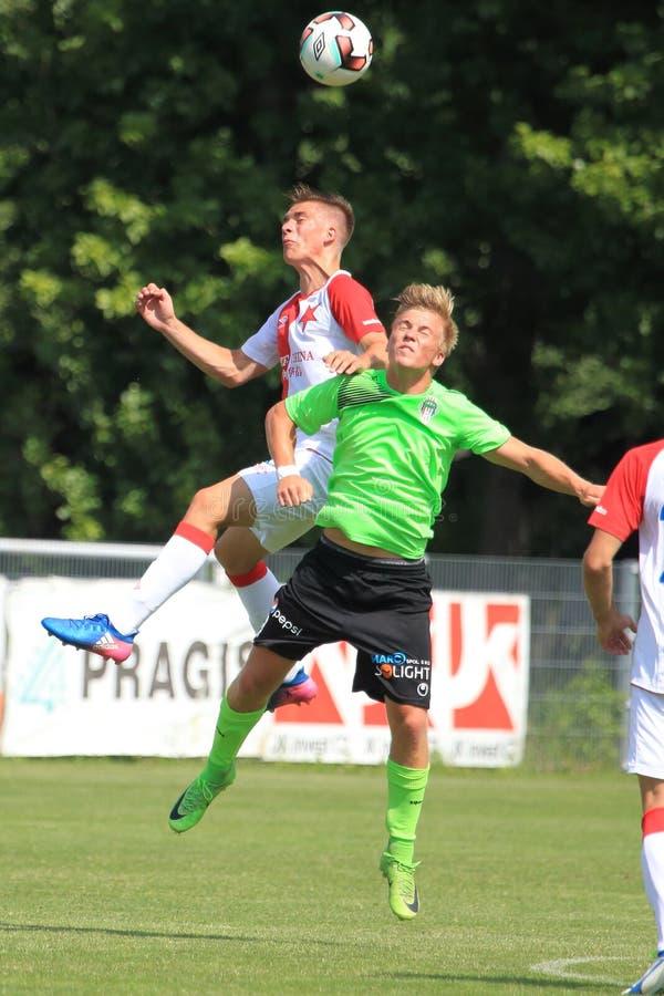 Libor Holik y Lukas Stratil - fútbol imagen de archivo