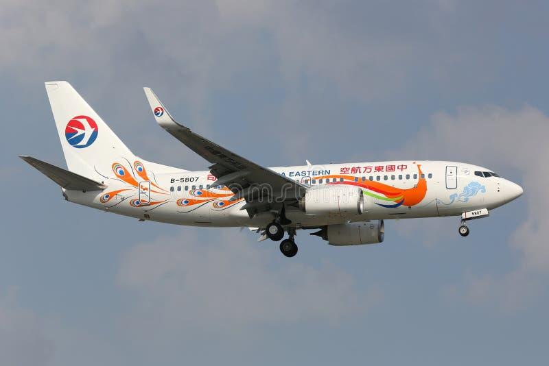 Libré especial de China Boeing 737-700 oriental fotos de stock royalty free