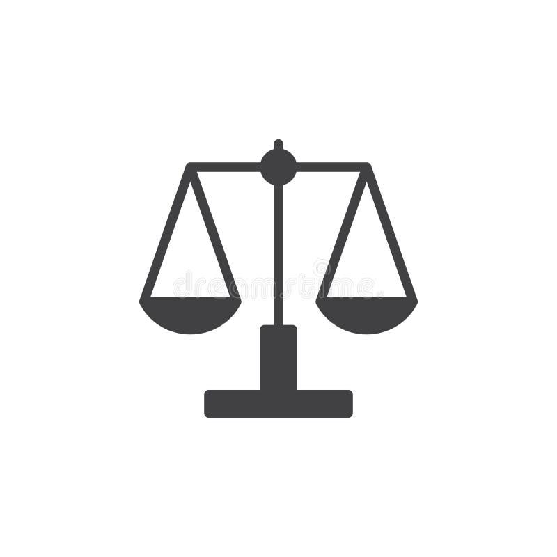 Libra, вектор значка масштаба, заполнил плоский знак иллюстрация вектора