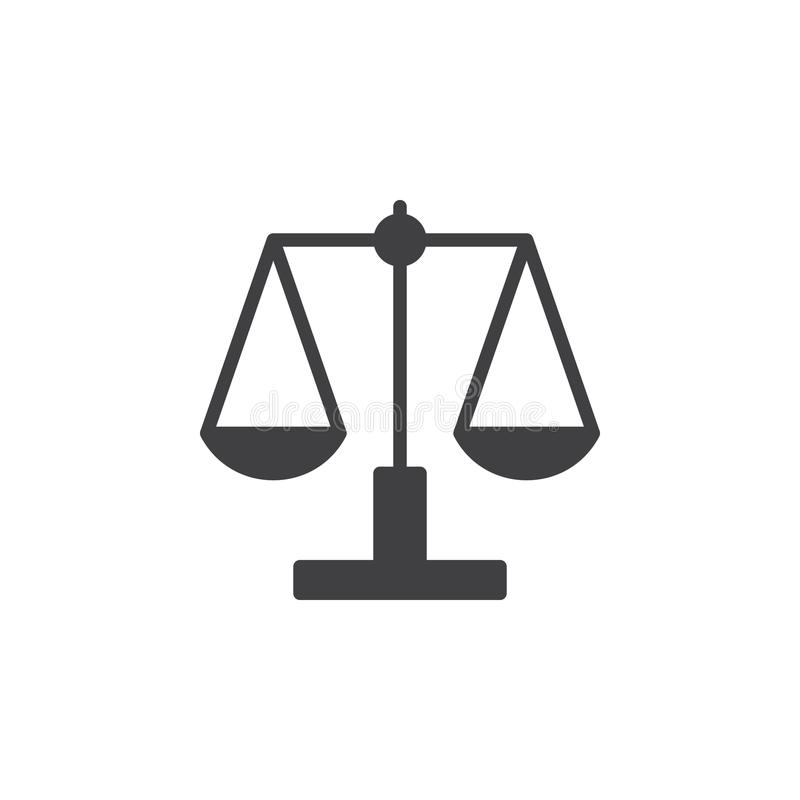 Libra, вектор значка масштаба иллюстрация штока