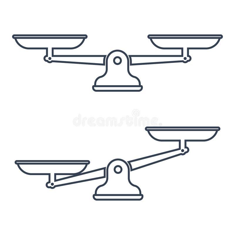 Libra изолированный на белой предпосылке иллюстрация вектора