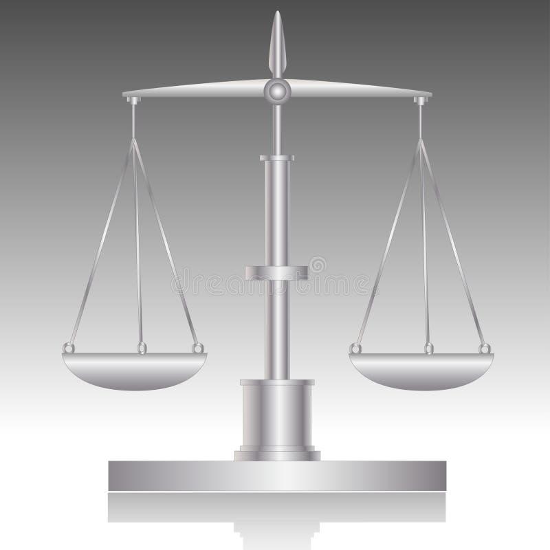 Libra-Balance ilustración del vector