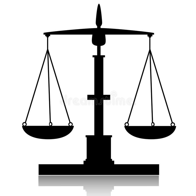 Libra-Balance stock de ilustración