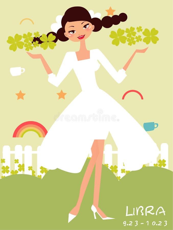 Download Libra bride stock vector. Image of nice, cartoon, audio - 11723383