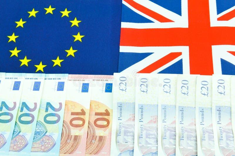 Libra contra o euro foto de stock royalty free