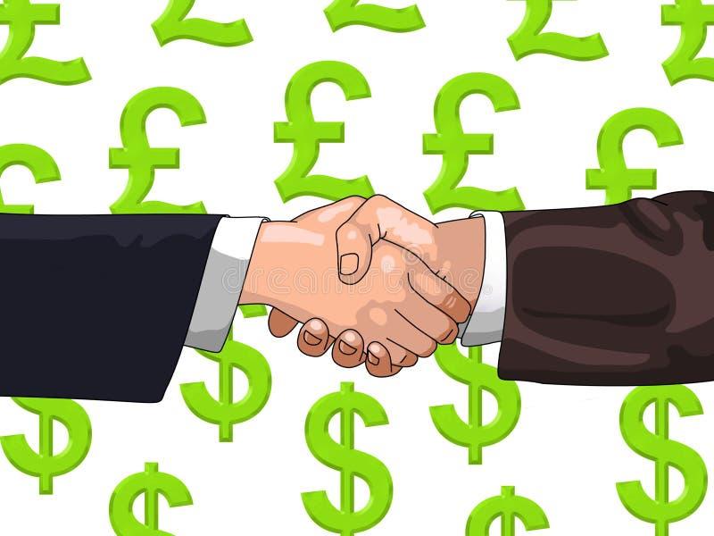 Libra-Dólar-Negocie ilustração stock