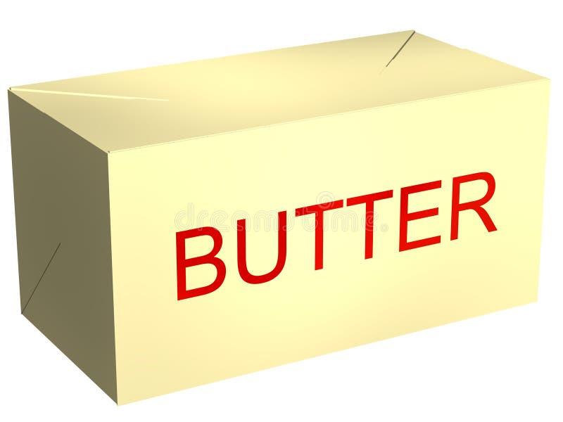 Libra de mantequilla stock de ilustración