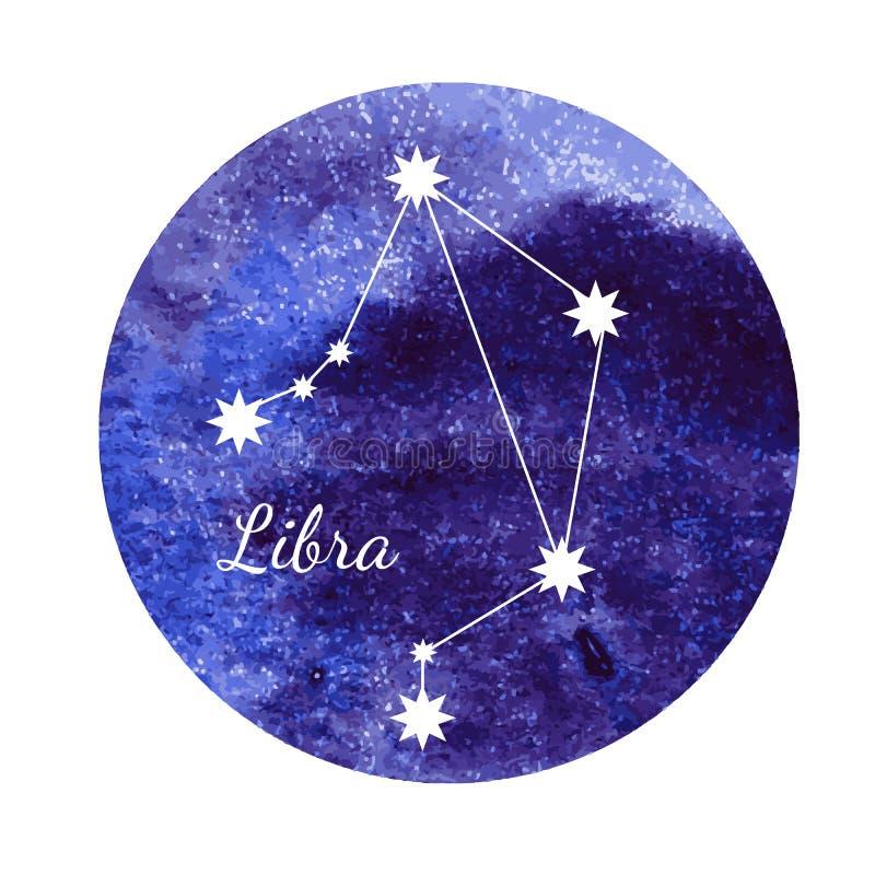 Libra del segno dell'oroscopo dell'acquerello royalty illustrazione gratis