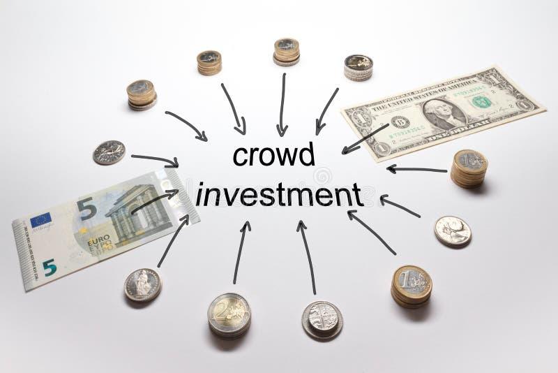 Libra do euro do dólar de investimento da multidão fotos de stock