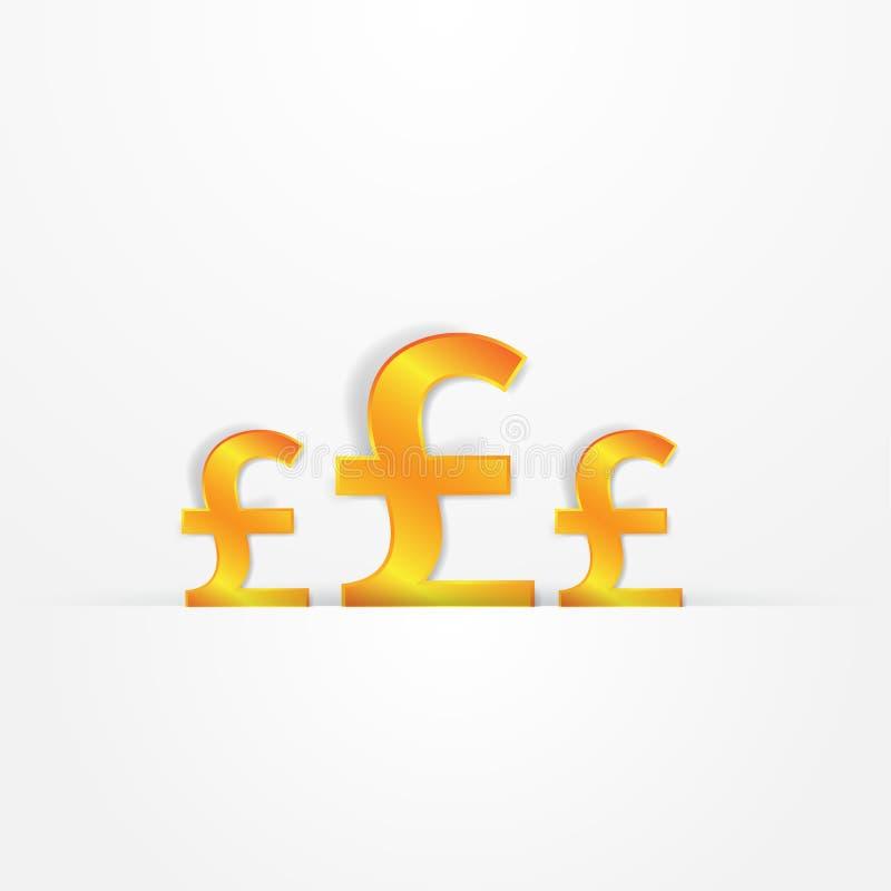 Download Sinais da libra do ouro ilustração do vetor. Ilustração de muitos - 29848816