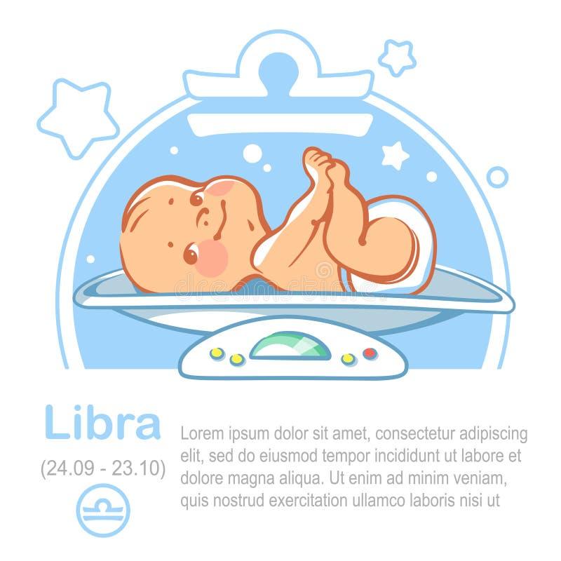 Libra do zodíaco do bebê ilustração royalty free