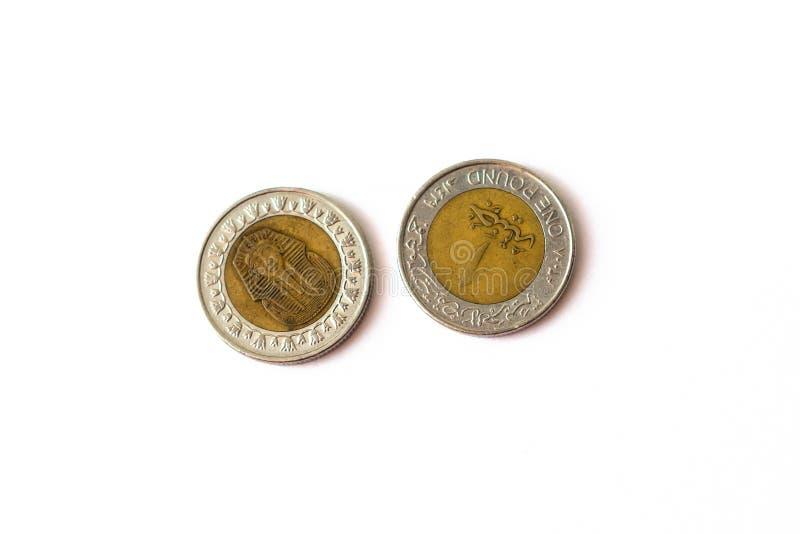 Libra egípcia da moeda 1, EGP foto de stock
