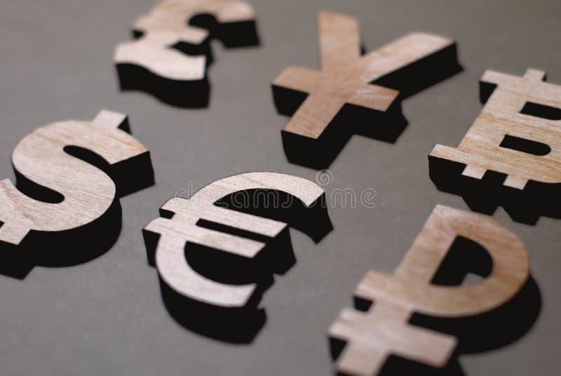 Libra, iene, dólar, euro- rublo imagens de stock royalty free