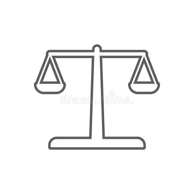 Libra ikona Element finanse dla mobilnego pojęcia i sieci apps ikony Kontur, cienka kreskowa ikona dla strona internetowa projekt royalty ilustracja