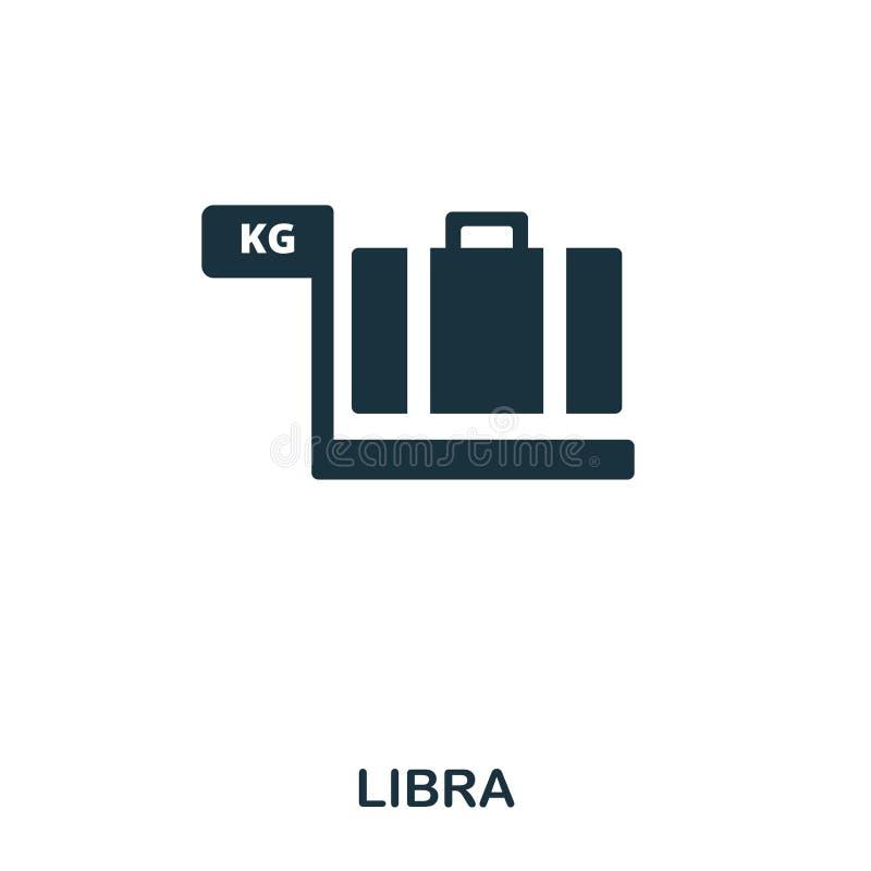 Libra ikona Kreskowego stylu ikony projekt Ui Ilustracja libra ikona piktogram odizolowywający na bielu Przygotowywa używać w sie ilustracji