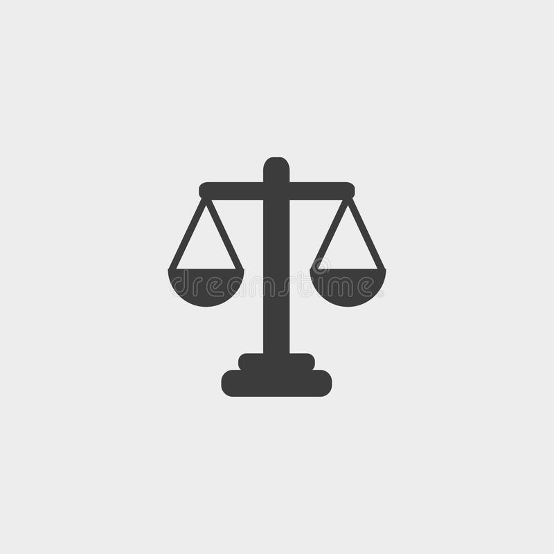 Libra ikona w płaskim projekcie w czarnym kolorze Wektorowa ilustracja EPS10 ilustracja wektor