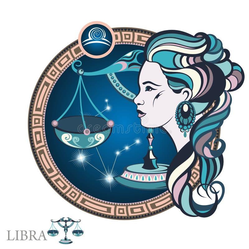 Libra Muestra del zodiaco ilustración del vector