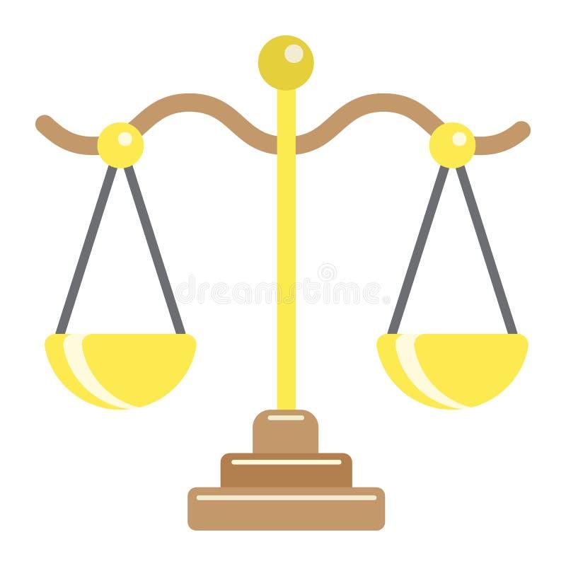 Libra płaska ikona, biznes i finanse, skala znak royalty ilustracja
