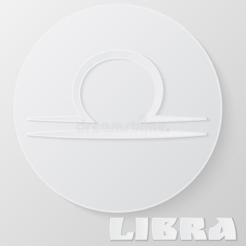 Libra Papercut, zodiaka horoskopu astrologii znak wektor ilustracja wektor