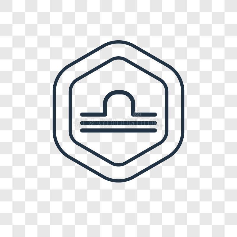 Libra pojęcia wektorowa liniowa ikona odizolowywająca na przejrzystym backgro ilustracji