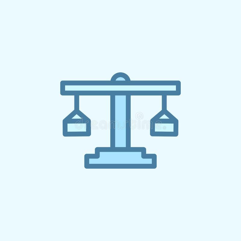 Libra pola konturu ikona Element 2 kolorów prosta ikona Cienka kreskowa ikona dla strona internetowa projekta i rozwoju, app rozw ilustracji