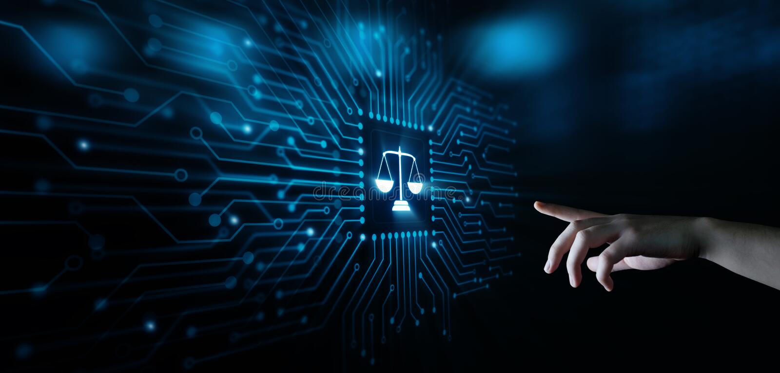 Libra Scales Attorney at Law Business Legal Lawyer Internet Technology.  stock images