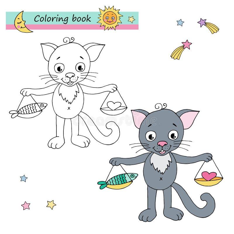 Libra van het dierenriemteken stock illustratie