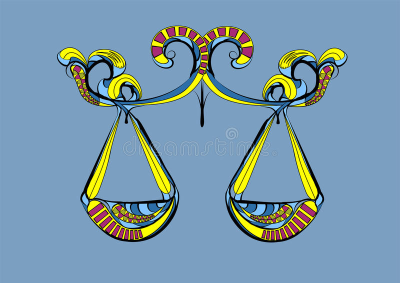 Libra zodiac sign stock illustration