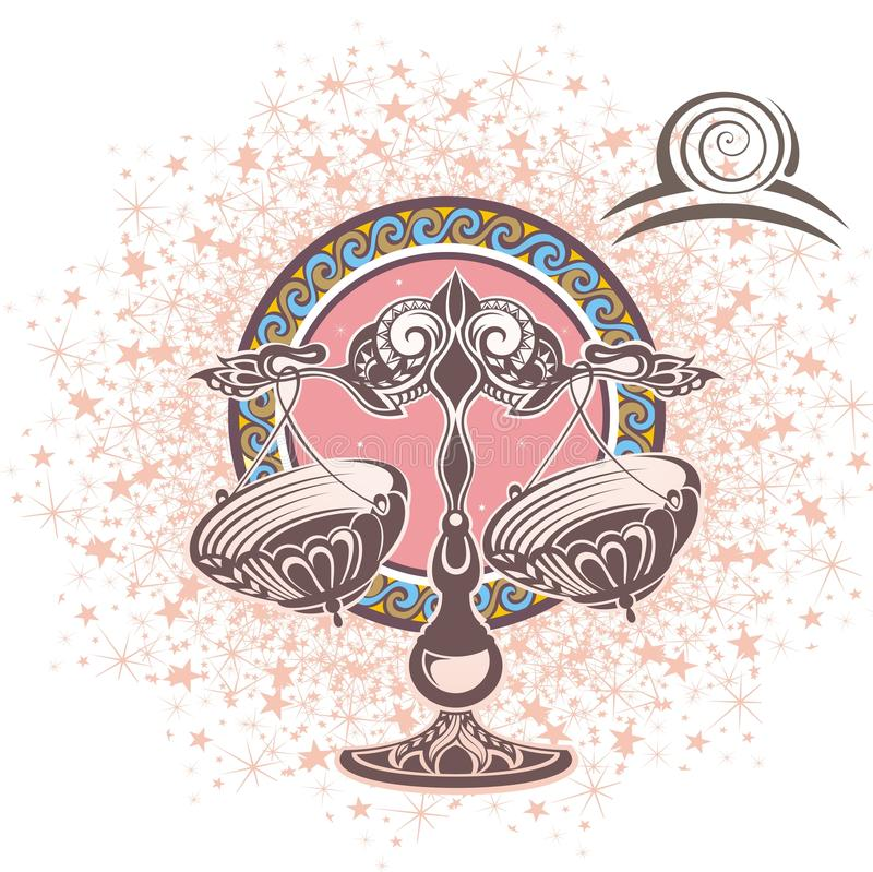 Libra. Zodiac sign royalty free illustration