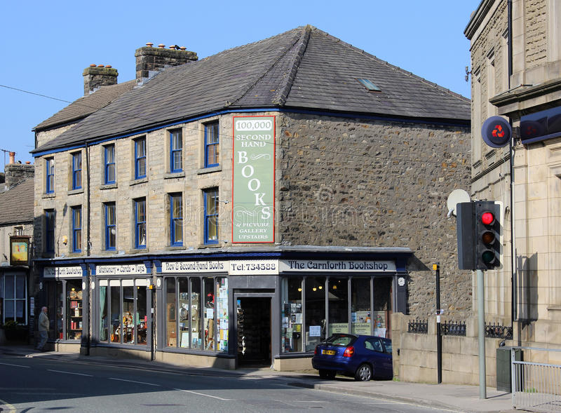 Librairie d'occasion, Carnforth, Lancashire images stock