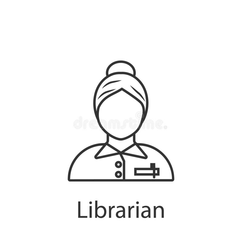 Librarian icon. Element of profession avatar icon for mobile concept and web apps. Detailed Librarian icon can be used for web and vector illustration