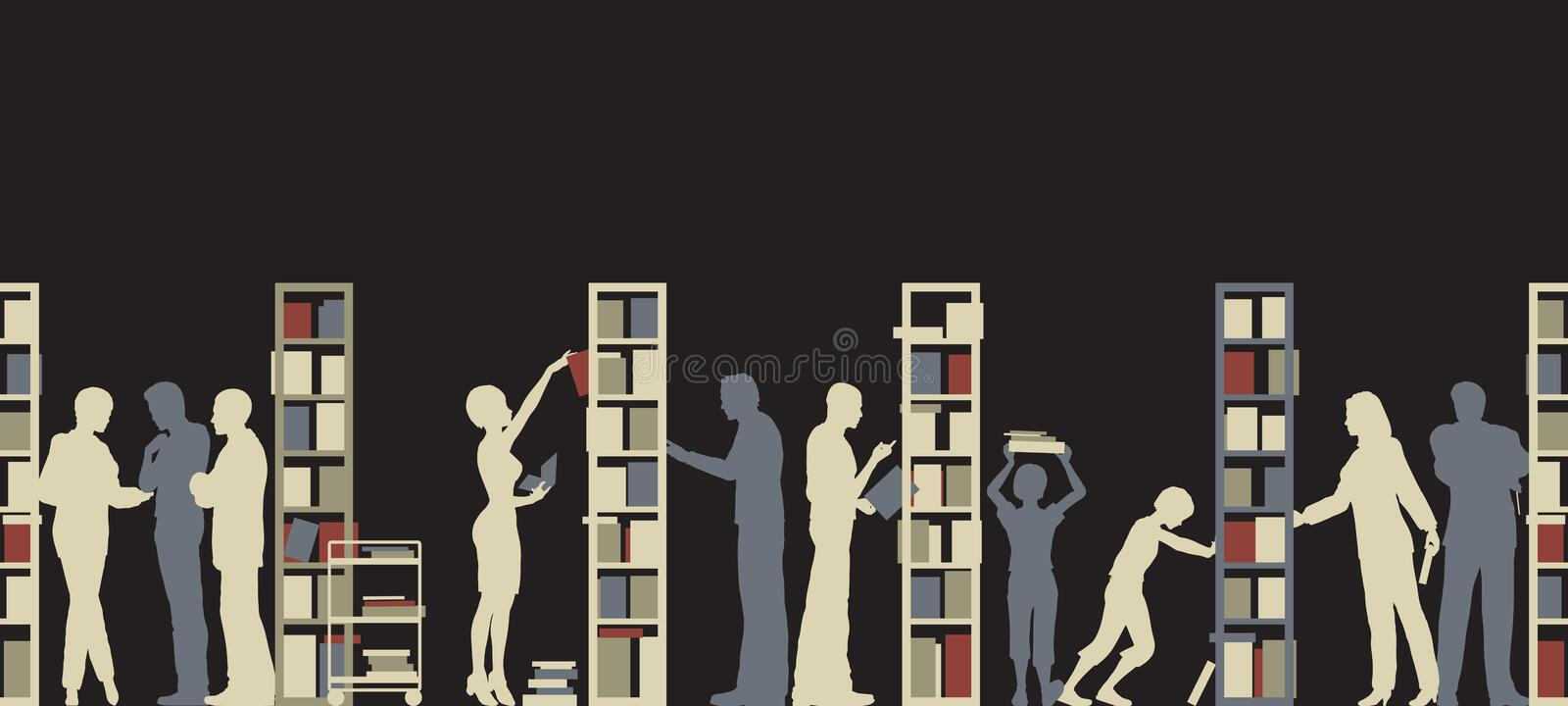 Download Library stock vector. Image of bookshelves, graphic, resource - 17835325